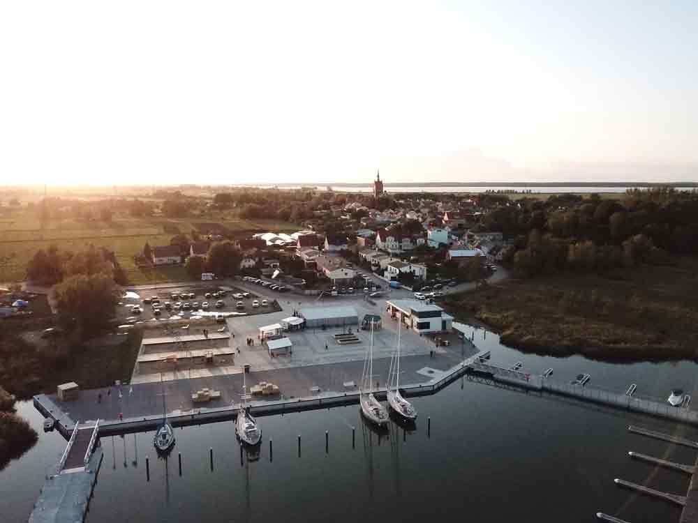 Luftaufnahme Usedomer See Zentrum