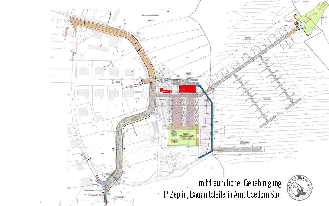 Hafenumbau Usedom Lageplan