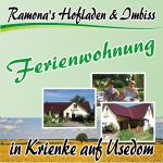 Ramona's Hofladen & Imbiss + Fereinwohnung in Krienke Usedom